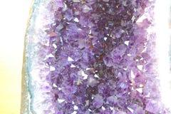 紫色的晶族 库存照片