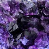 紫色的晶族 免版税库存照片