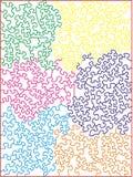 色的曲线锯的多模式难题 库存照片