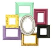 色的木制框架照片图片 库存图片
