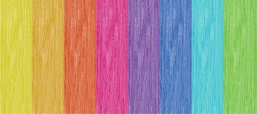 色的木头 库存图片