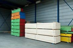 色的木料 库存图片
