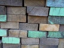 色的木板条背景 库存照片