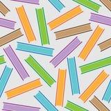 色的条纹书的无缝的样式 免版税库存照片