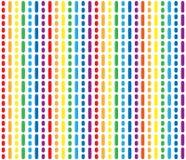 色的条纹的无缝的样式 免版税库存照片