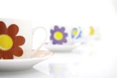 色的杯子茶 免版税库存图片