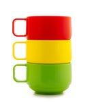 色的杯子 免版税库存图片