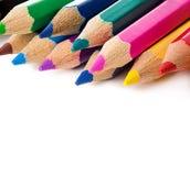 色的查出的铅笔 库存图片