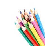色的查出的铅笔 免版税图库摄影