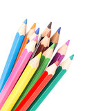 色的查出的铅笔 库存照片