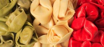 色的标志意大利人意大利面食 库存图片