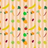色的样式用果子和vegetables2 免版税图库摄影