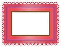 色的框架摩洛哥人样式 免版税图库摄影