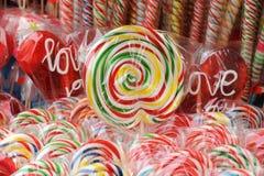色的棒棒糖我 图库摄影