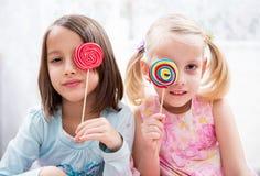 色的棒棒糖 库存图片
