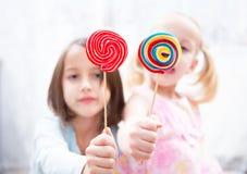 色的棒棒糖 图库摄影