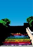 色的楼梯向量 免版税库存图片