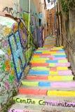 色的楼梯 库存图片