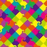 色的模式正方形漩涡 免版税库存照片
