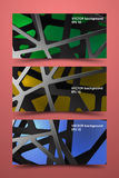 色的横幅模板 数字式碳背景 免版税库存照片