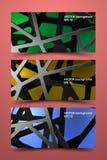 色的横幅模板 数字式碳背景 免版税库存图片