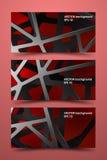 色的横幅模板 数字式背景碳 免版税库存图片