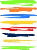 色的横幅 库存图片
