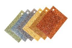 色的橡胶陈列品,隔绝在白色 免版税库存图片