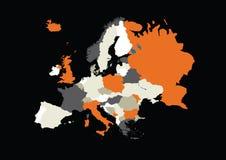 色的欧洲 免版税图库摄影