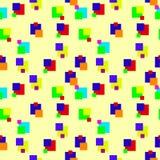 色的正方形无缝的背景 库存照片
