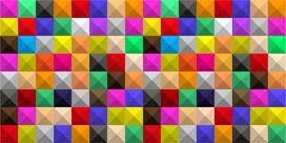 色的正方形背景与树荫的以图表几何容量马赛克的形式 皇族释放例证