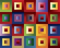 色的正方形 库存图片