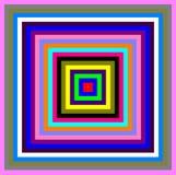 色的正方形 库存照片