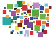 色的正方形 免版税库存图片