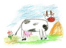 色的母牛 免版税库存图片