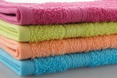 色的毛巾 免版税库存图片