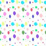 色的气球和星 免版税库存图片