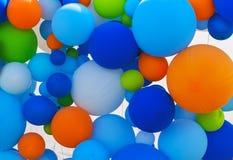 色的气球背景 库存照片