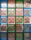色的水晶墙壁 免版税图库摄影