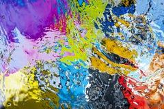 色的水表面 免版税图库摄影