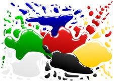 色的污点 免版税库存图片