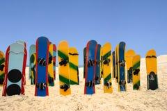 色的沙子板 免版税库存照片