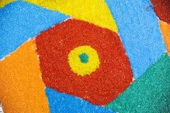 色的沙子 免版税库存图片
