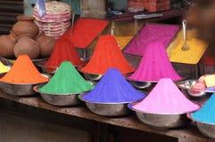 色的油漆粉末销售额 图库摄影