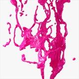 色的油漆飞溅 库存图片