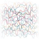 从色的波浪线的抽象背景 皇族释放例证