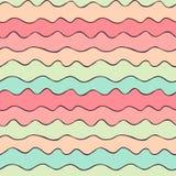 色的波浪线 免版税库存图片