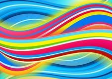 色的波浪背景 免版税库存照片