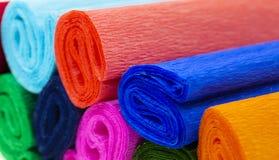 色的波状纸板 免版税库存图片