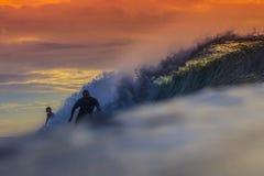色的海浪 免版税库存照片